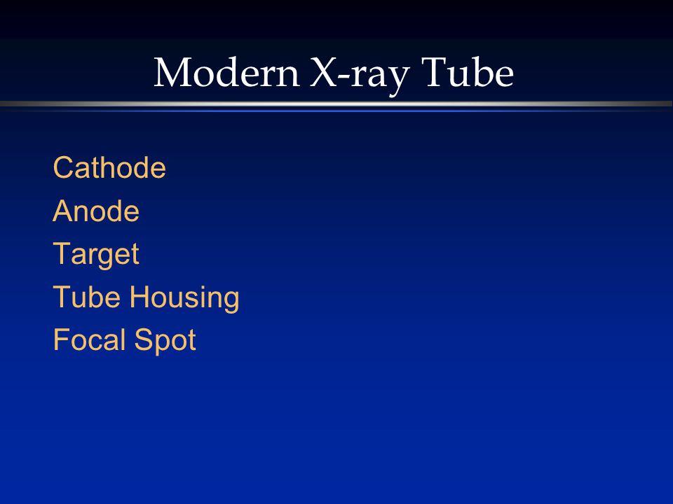 Modern X-ray Tube Cathode Anode Target Tube Housing Focal Spot