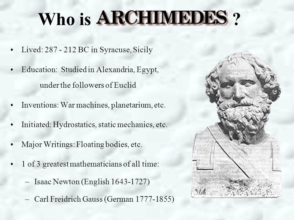 What is Archimedes' principle.