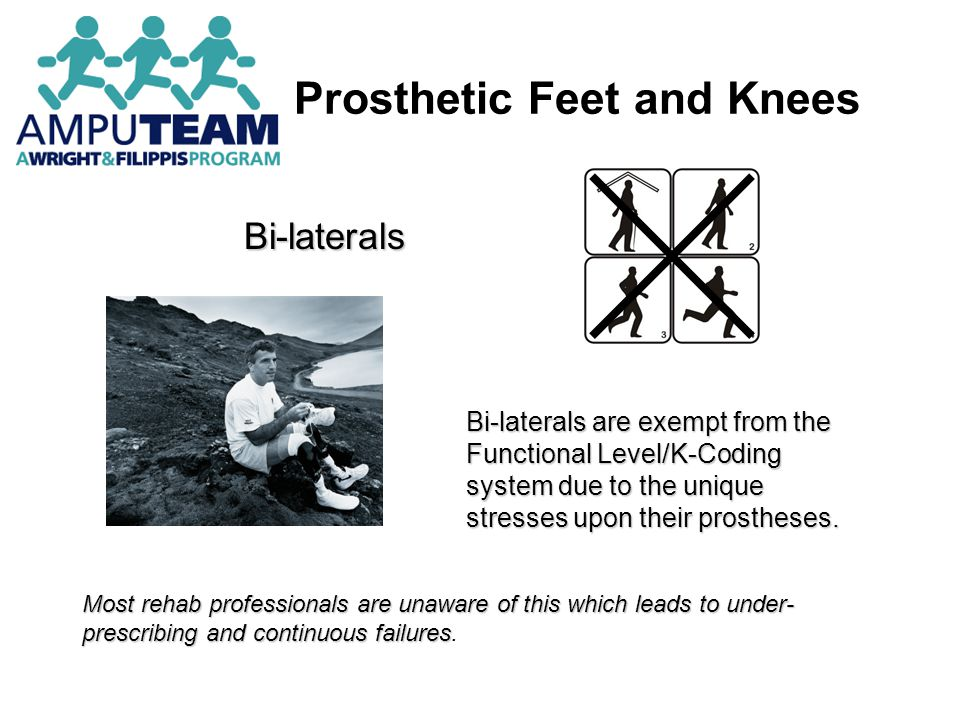 Prosthetic Feet Prosthetic feet should provide the following functions: Joint simulation Shock absorption A stable weight-bearing base of support Muscle simulation Cosmesis