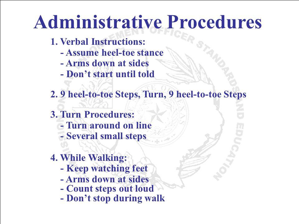 Administrative Procedures 1.