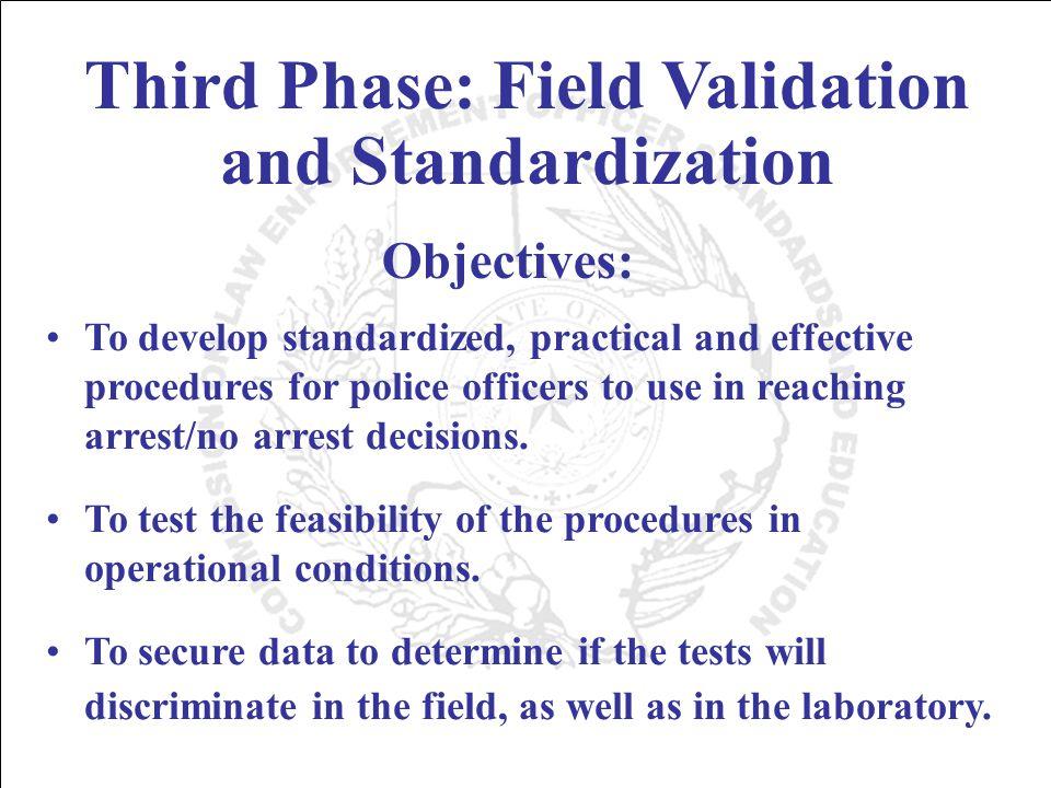 Standardized Elements Standardized Administrative Procedures Standardized Clues Standardized Criteria