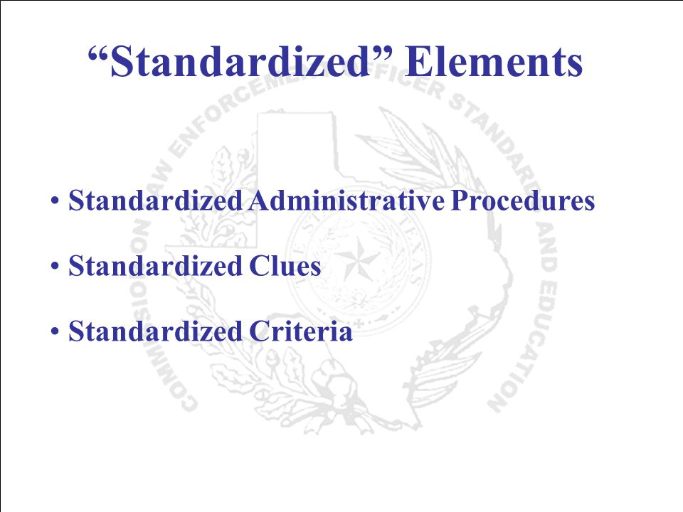 Importance of Large Scale Field Validation Study First significant assessment of the workability of the standardized tests under actual enforcement conditions.