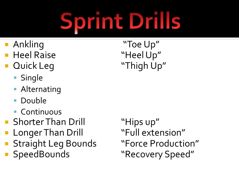  Use Drills and exercises that utilize the same muscles and forces used in the actual event