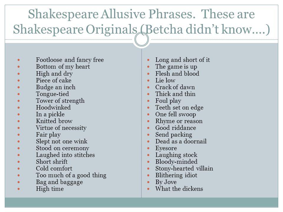 Shakespeare Allusive Phrases.