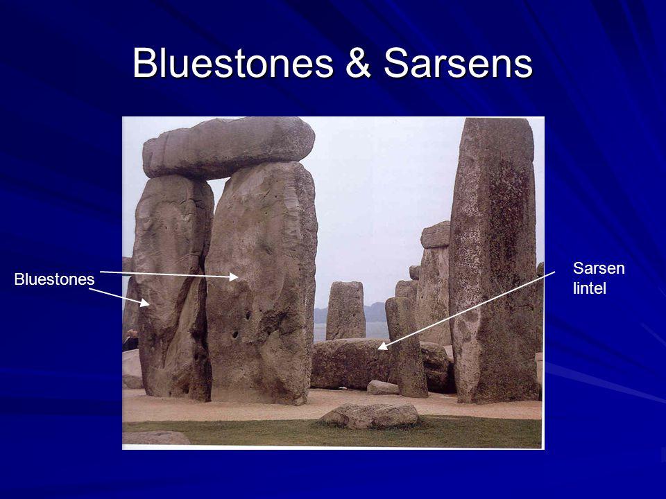 Bluestones & Sarsens Bluestones Sarsen lintel
