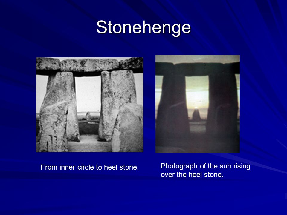 Stonehenge Photograph of the sun rising over the heel stone. From inner circle to heel stone.