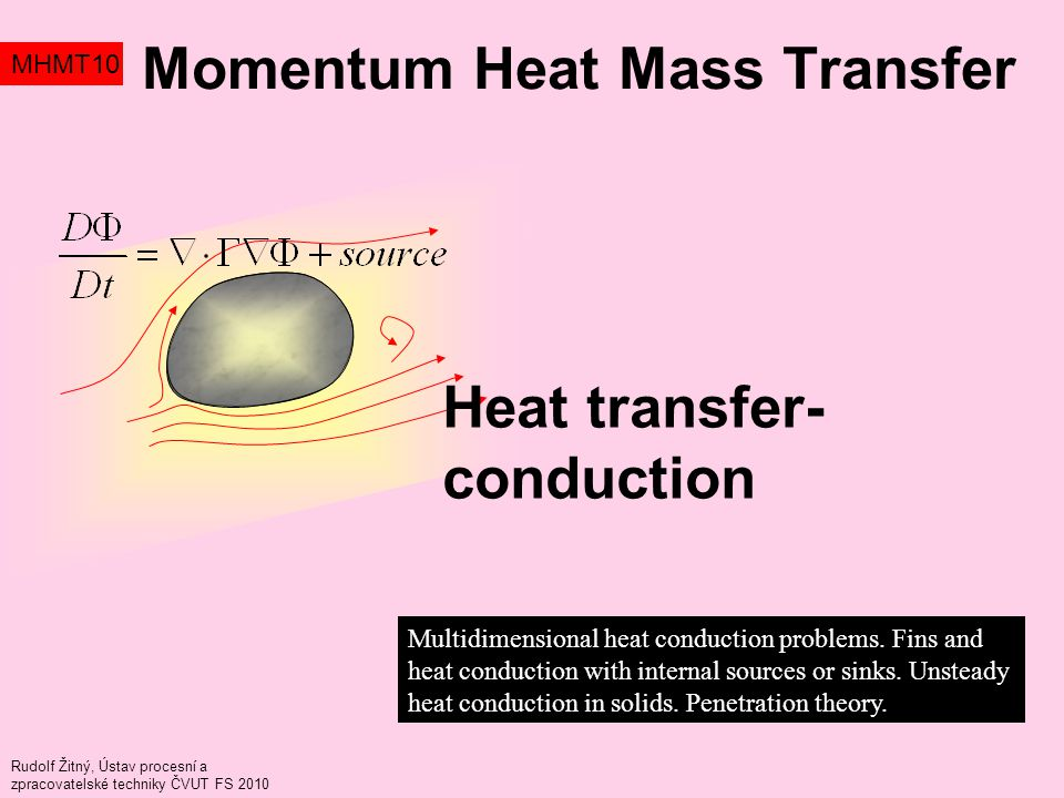 Momentum Heat Mass Transfer MHMT10 Multidimensional heat conduction problems.