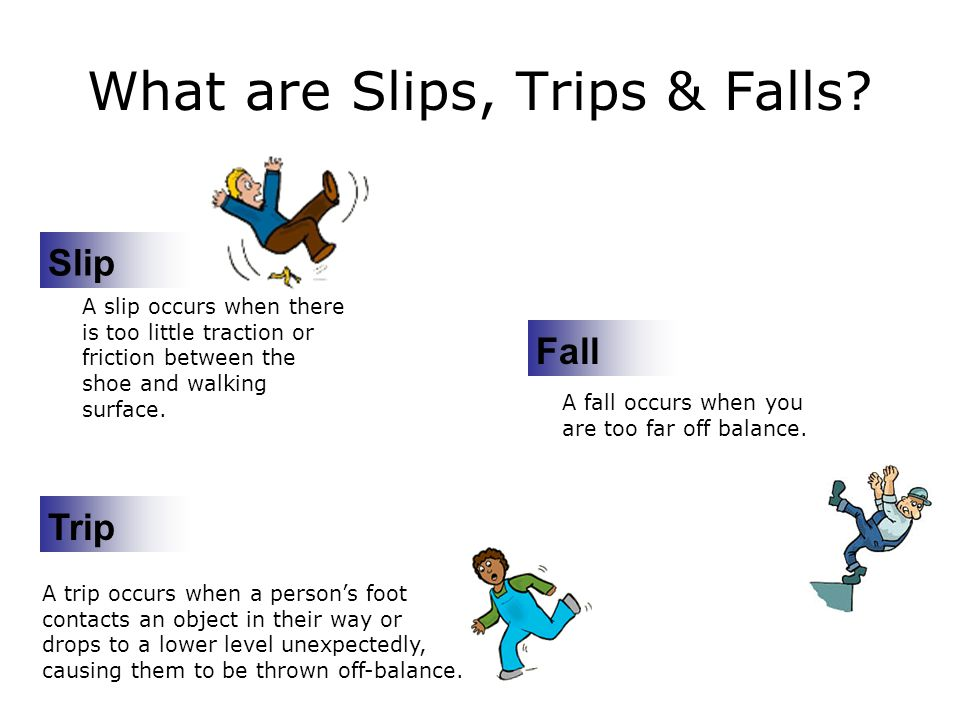 What are Slips, Trips & Falls.