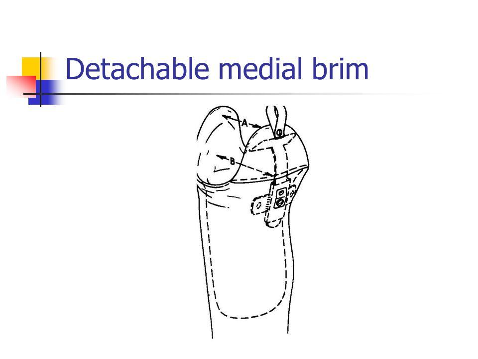 Detachable medial brim