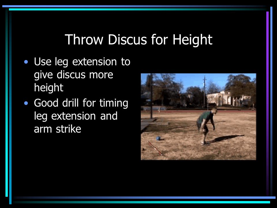 Full Throw with Traffic Cone Allows thrower to feel the implement Slows throw down so throwers don't rush through positions Good drill to cure scooping