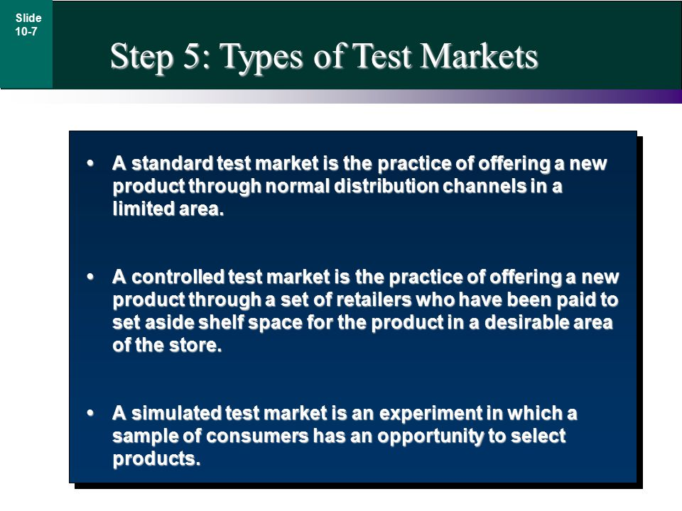 A standard test market is the practice of offering a new product through normal distribution channels in a limited area.A standard test market is the practice of offering a new product through normal distribution channels in a limited area.