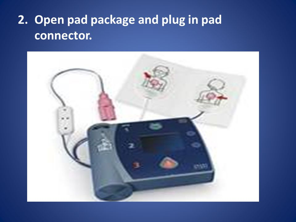 2.Open pad package and plug in pad connector.
