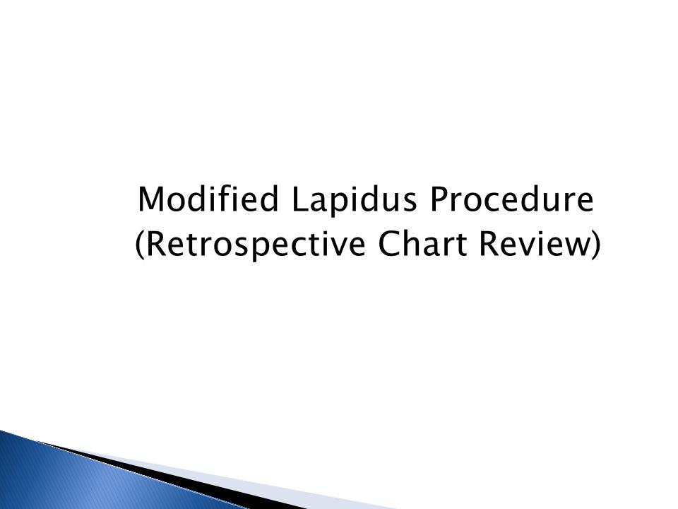 Modified Lapidus Procedure (Retrospective Chart Review)