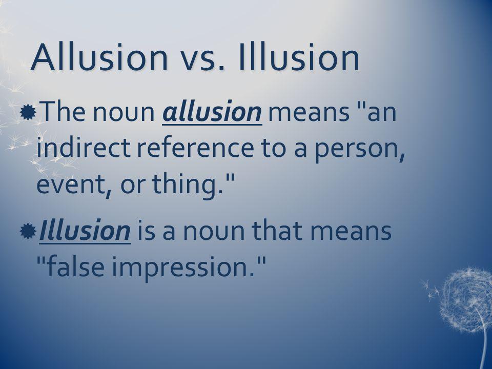 Allusion vs.