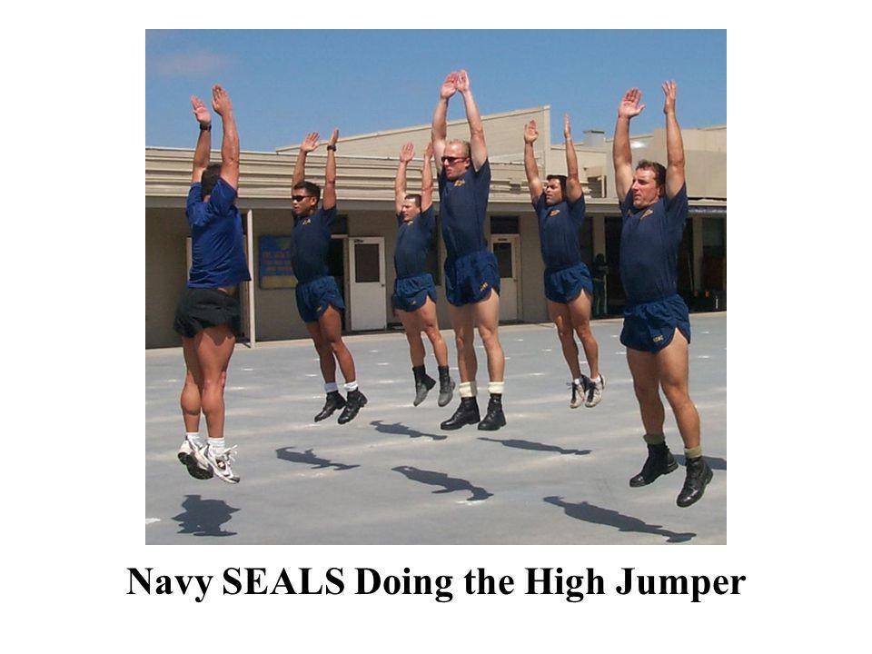 Navy SEALS Doing the High Jumper