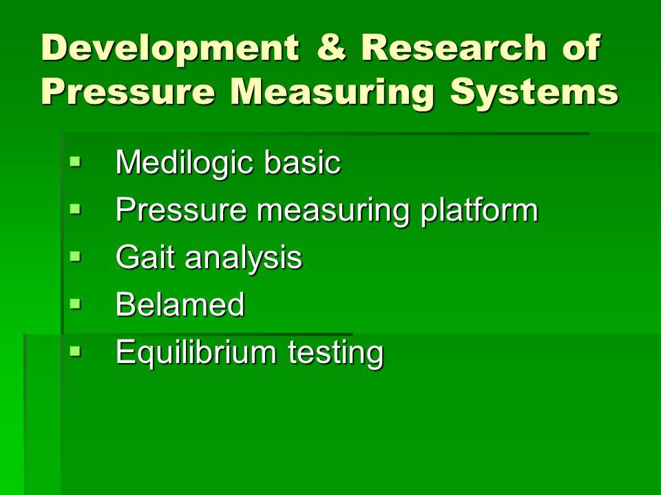 Development & Research of Pressure Measuring Systems  Medilogic basic  Pressure measuring platform  Gait analysis  Belamed  Equilibrium testing