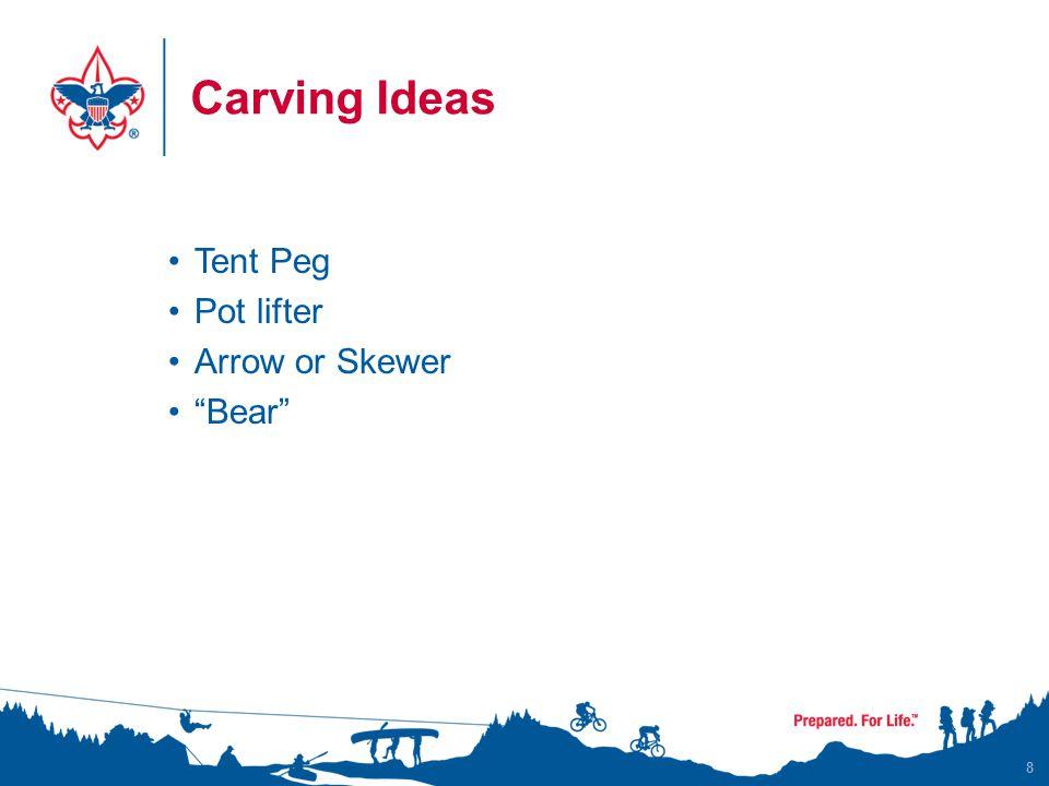 Carving Ideas Tent Peg Pot lifter Arrow or Skewer Bear 8
