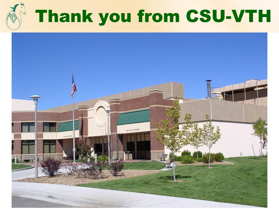 Thank you from CSU-VTH