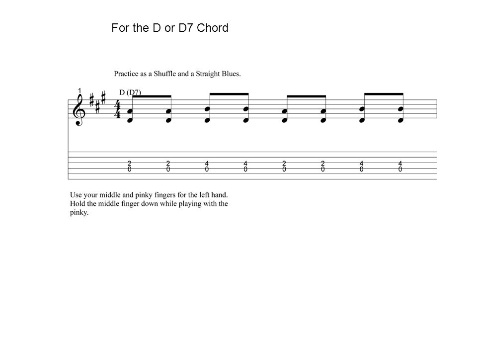 For the D or D7 Chord