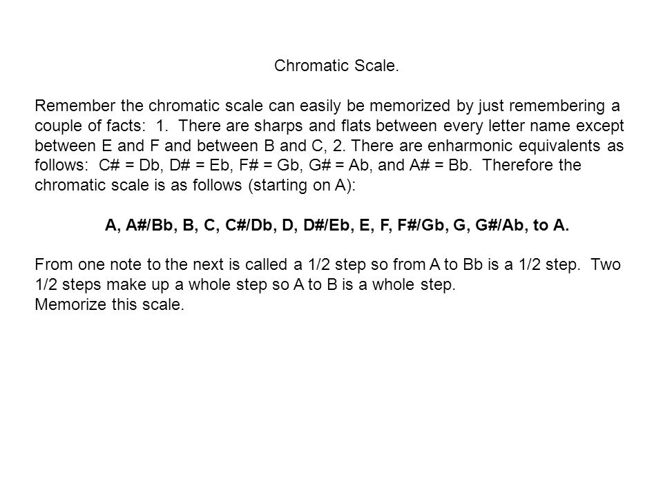 Chromatic Scale.