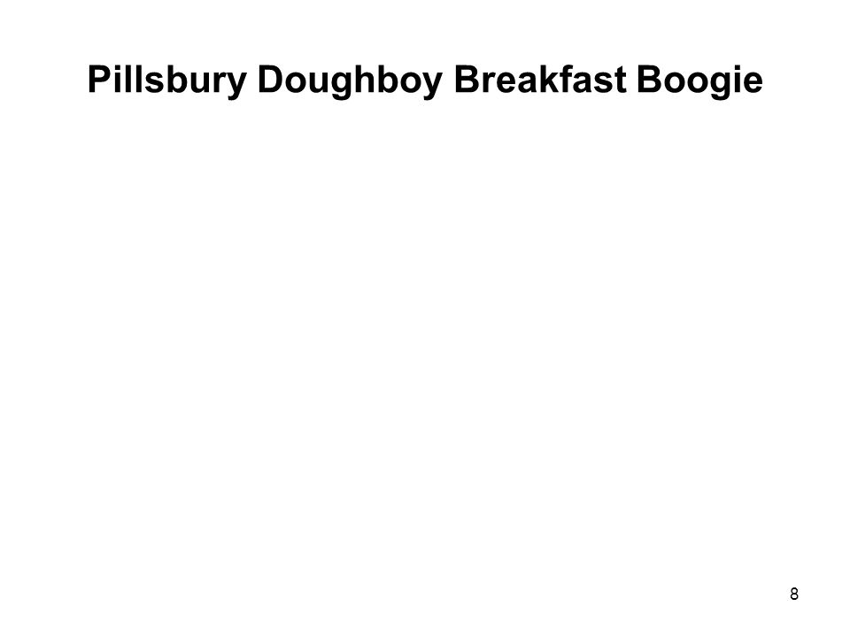 Pillsbury Doughboy Breakfast Boogie 8