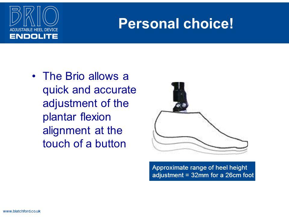 www.blatchford.co.uk Personal choice.
