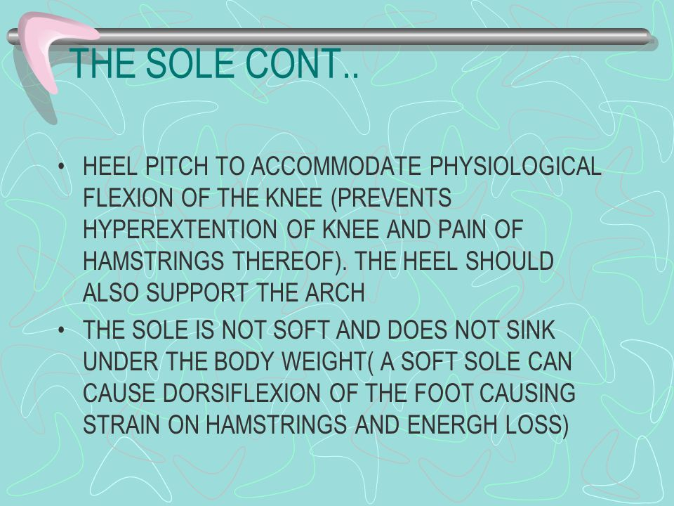 THE SOLE CONT..
