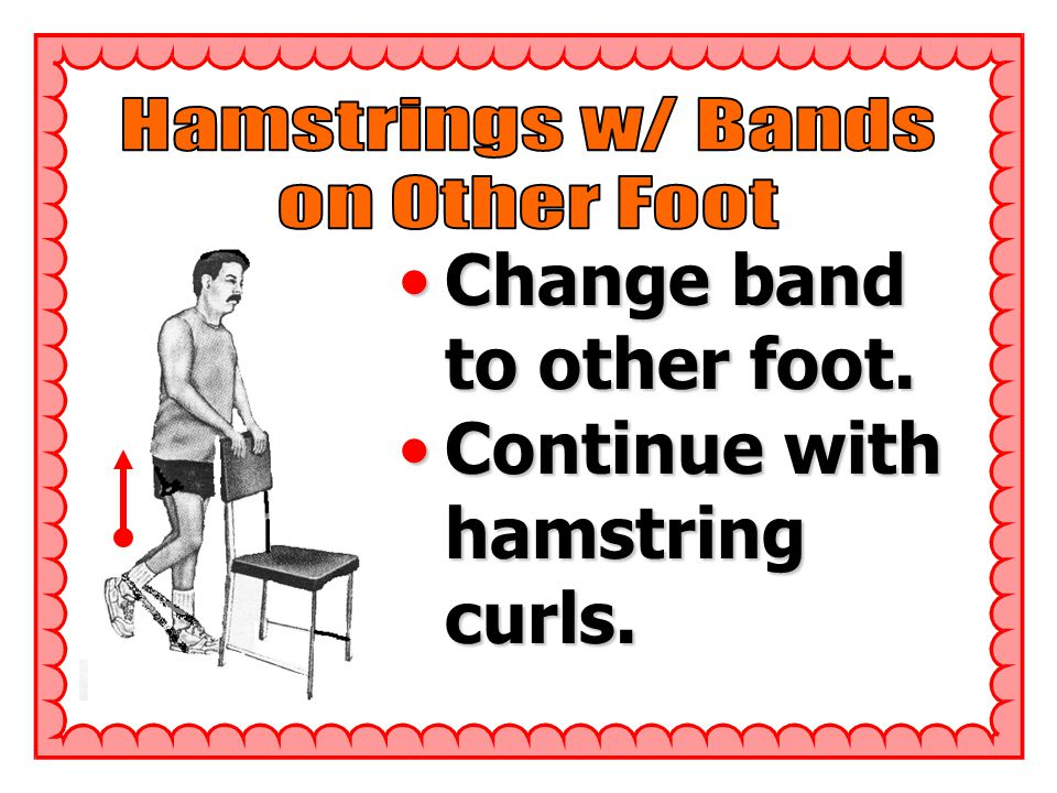Change band to other foot.Change band to other foot.