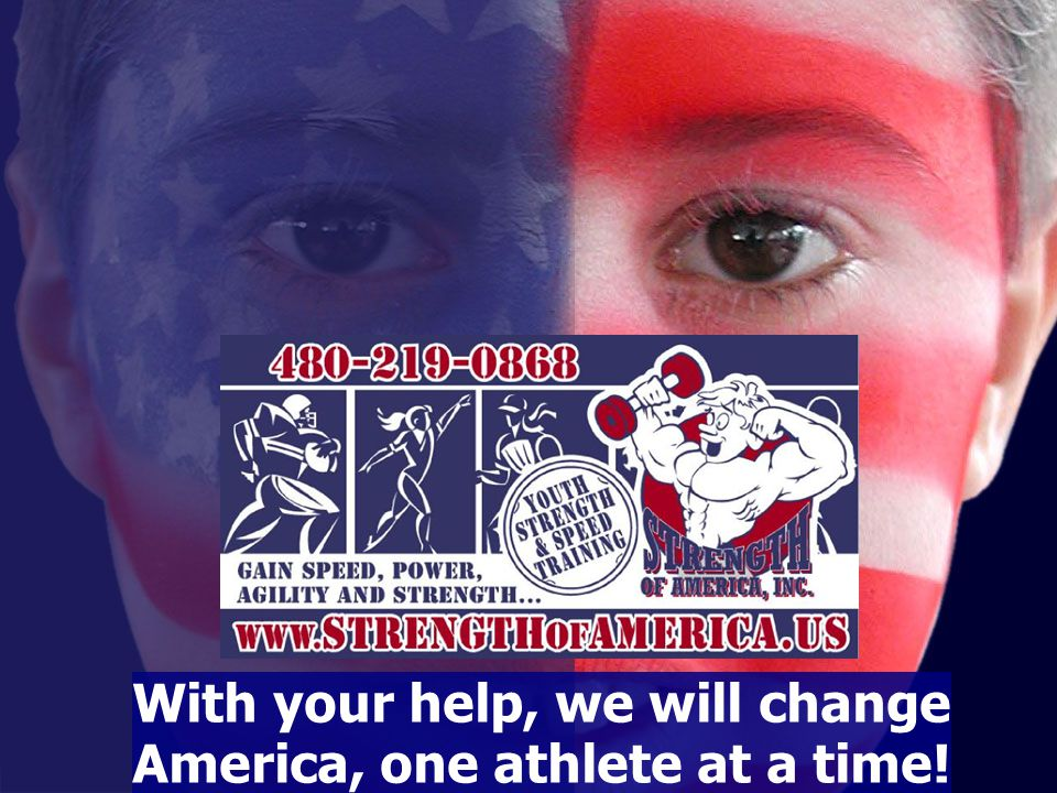 With your help, we will change America, one athlete at a time!