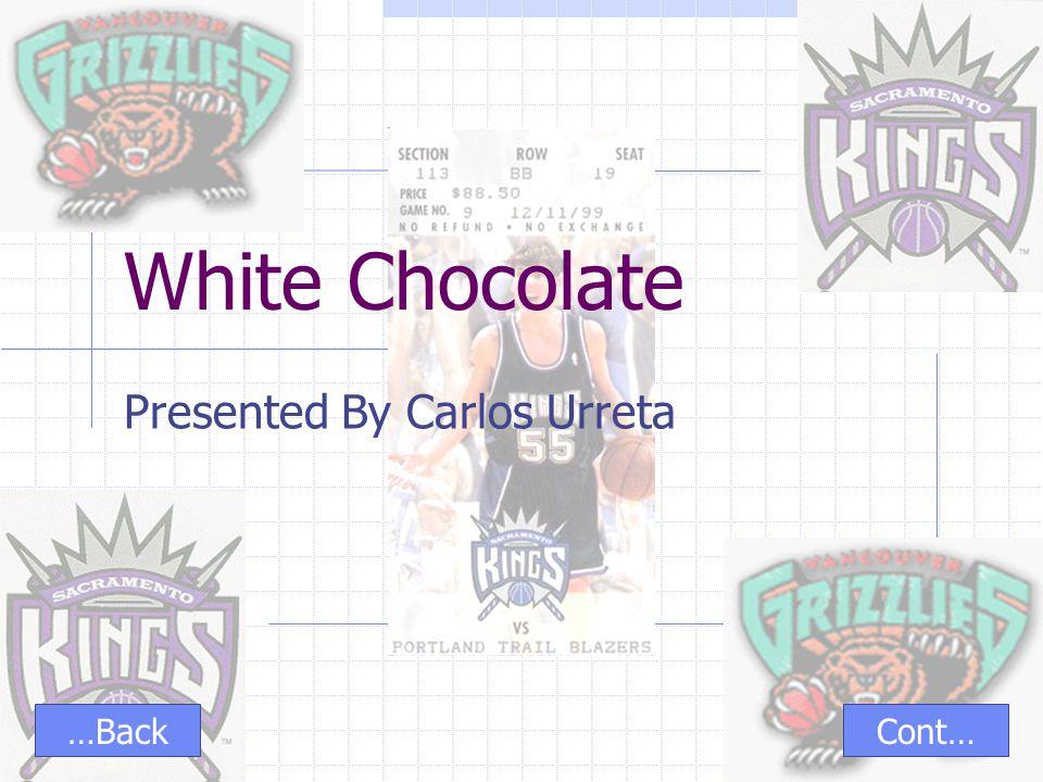 White Chocolate Presented By Carlos Urreta Cont……Back