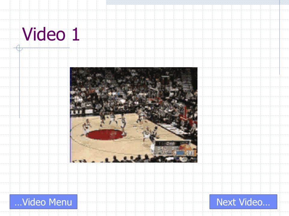 Video 1 …Video MenuNext Video…