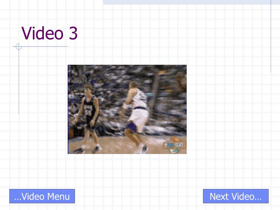 Video 3 Next Video……Video Menu