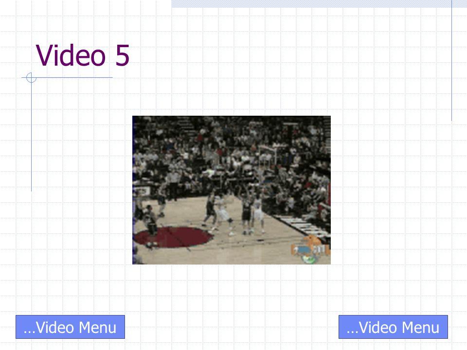 Video 5 …Video Menu