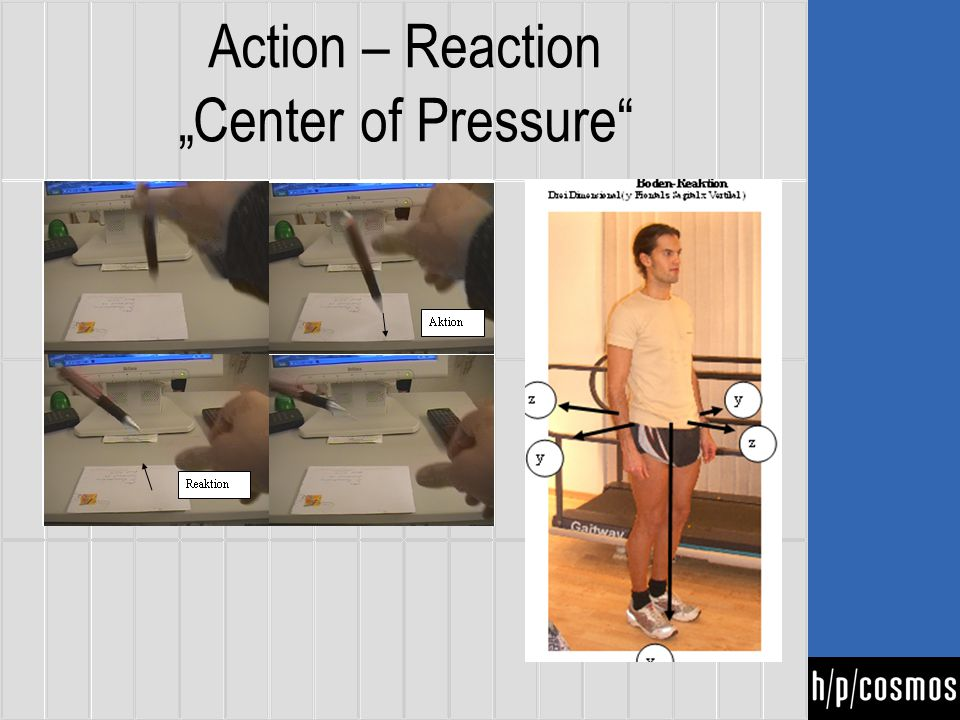 "Action – Reaction ""Center of Pressure"