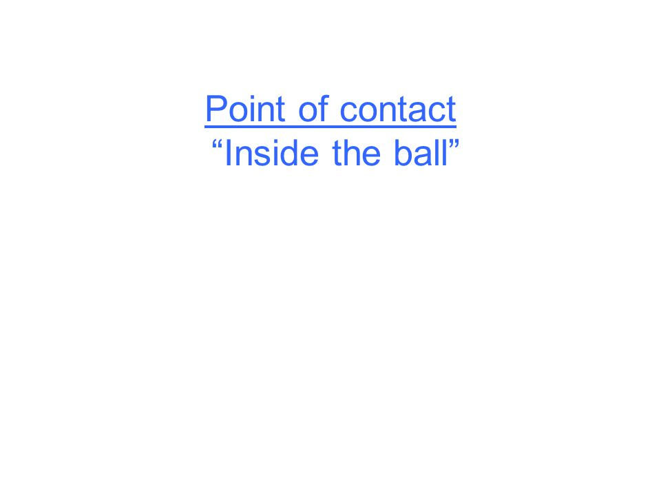 Point of contact Inside the ball