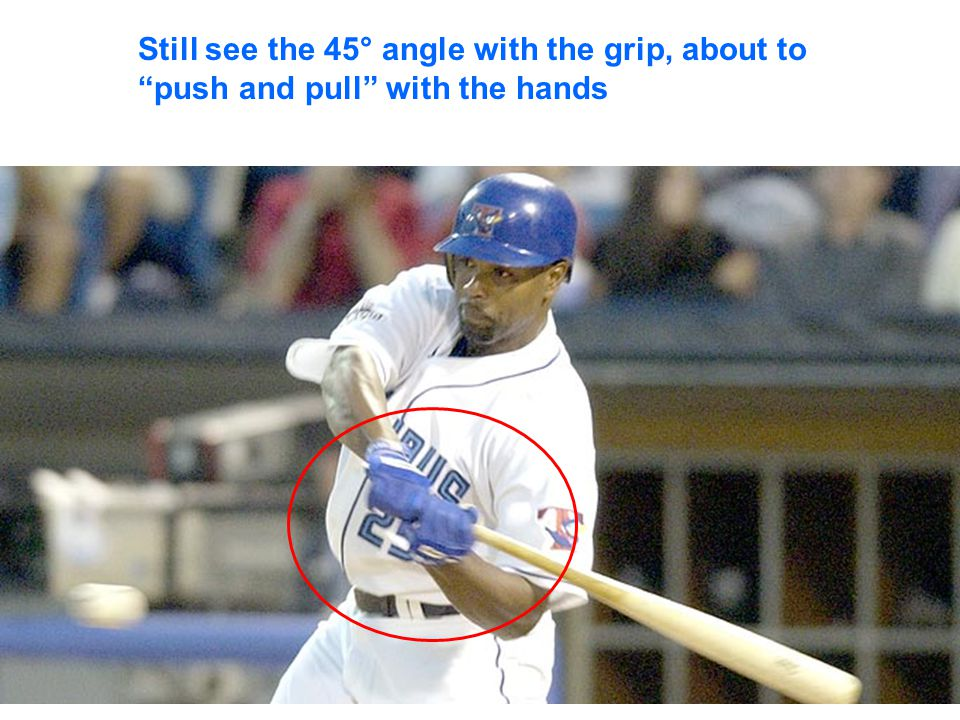 Set-up Square to plate Elbows similar height Shoulders level = head/eyes level Proper grip - -Knocker knuckles - 45° - out of palm Hands at chin level Relaxed shoulders Relaxed grip Weight 60/40 Bat at 45° angle/ parallel with armpit to elbow angle of front arm