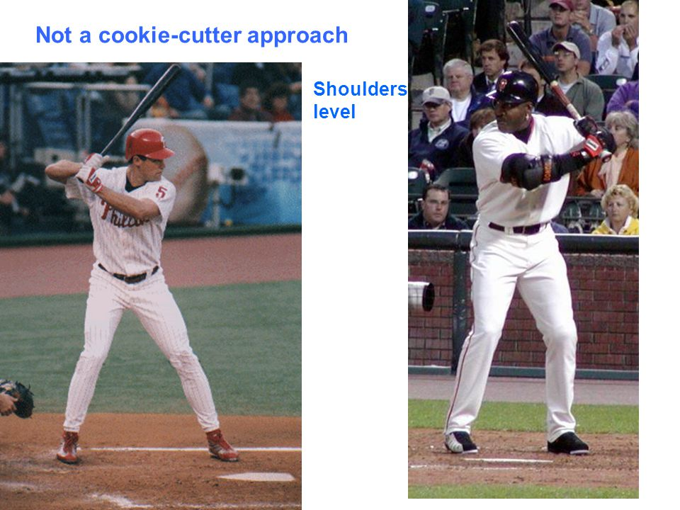 Not a cookie-cutter approach Shoulders level