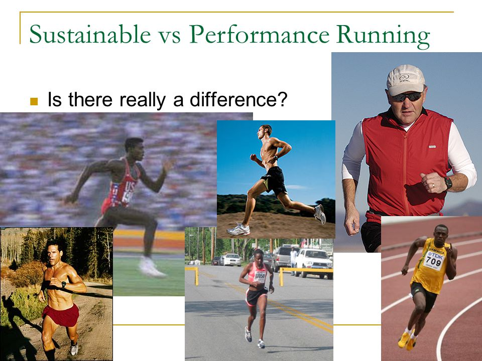 Sustainable vs Performance Running Is there really a difference?
