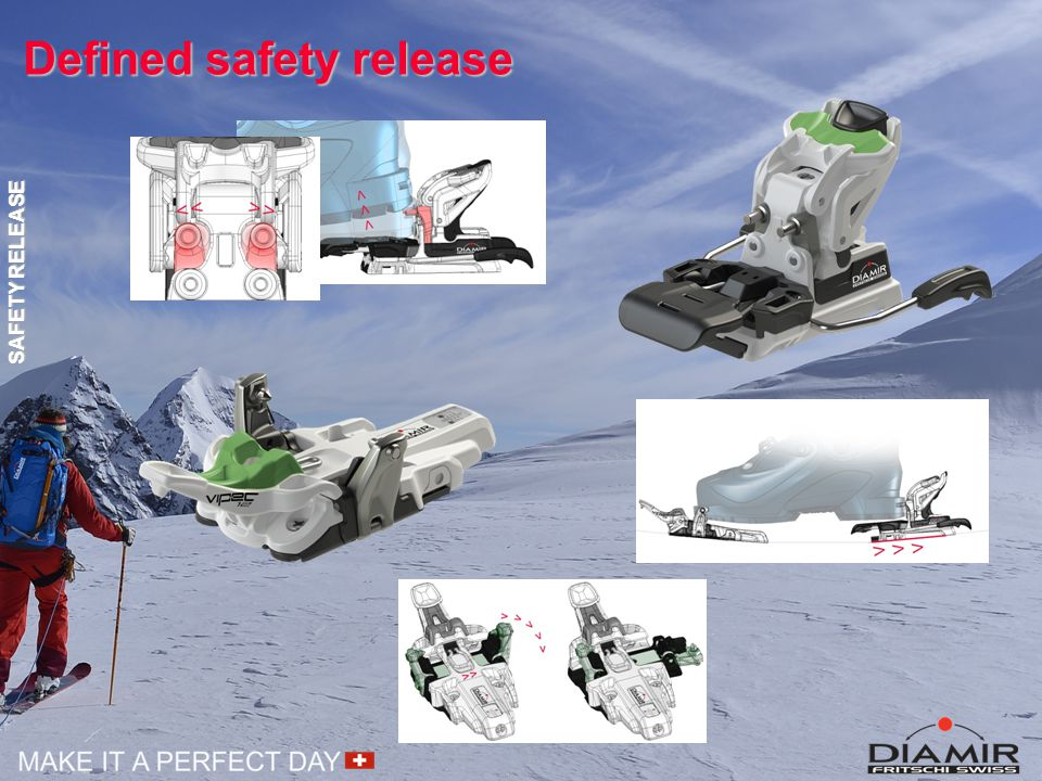 Defined safety release SAFETY RELEASE