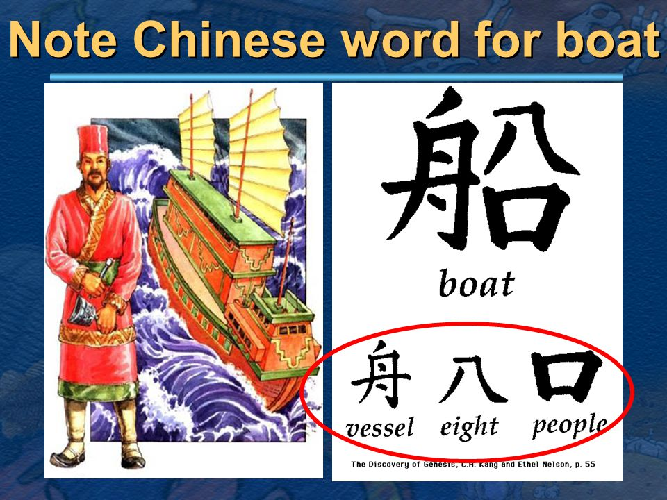 Note Chinese word for boat