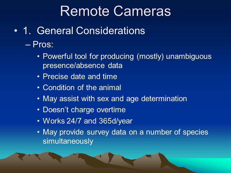 Remote Cameras 1.