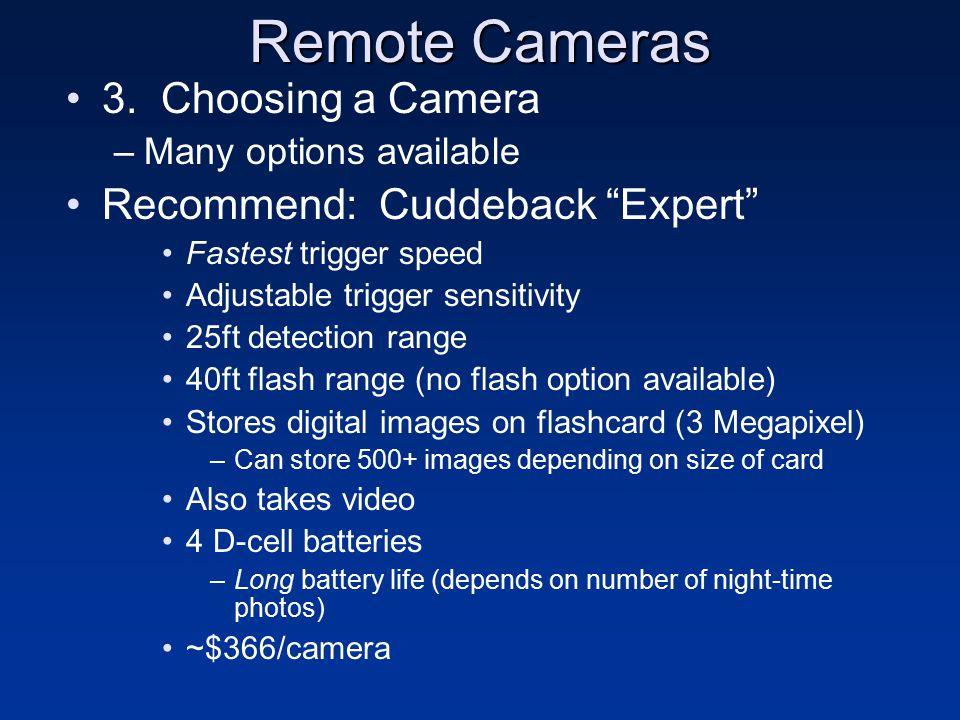 Remote Cameras 3.