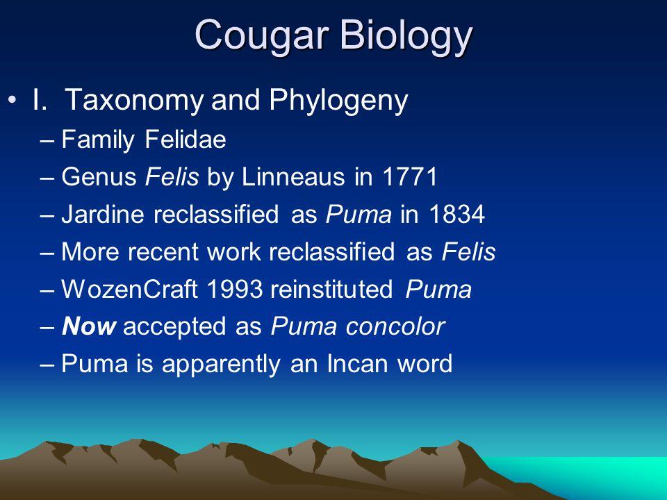 Cougar Biology I.