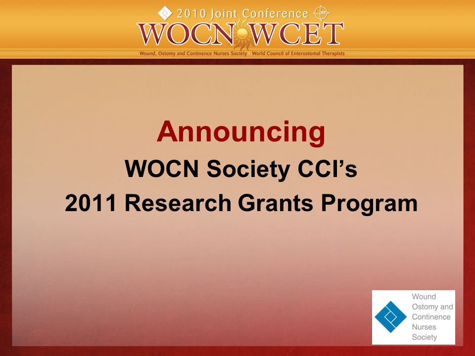 Announcing WOCN Society CCI's 2011 Research Grants Program