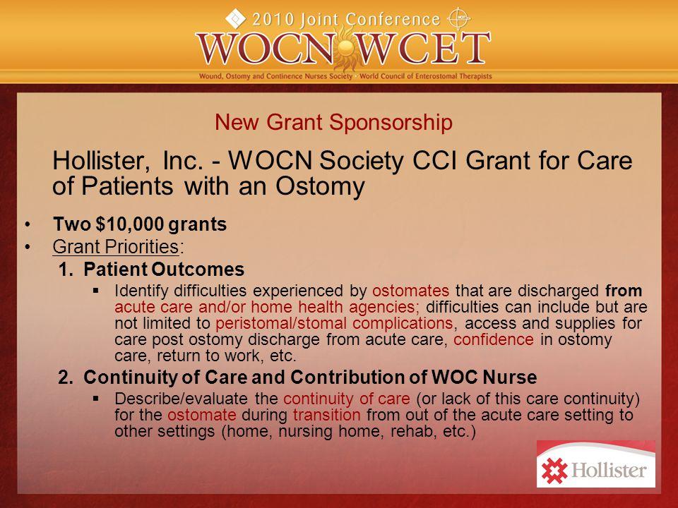 New Grant Sponsorship Hollister, Inc.
