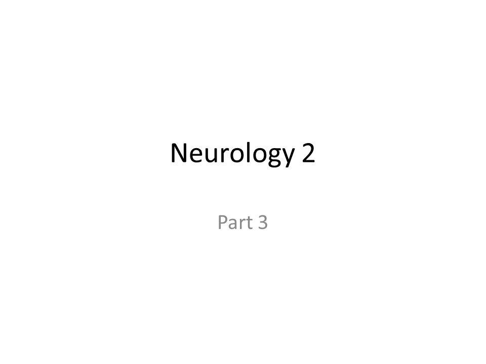 Neurology 2 Part 3