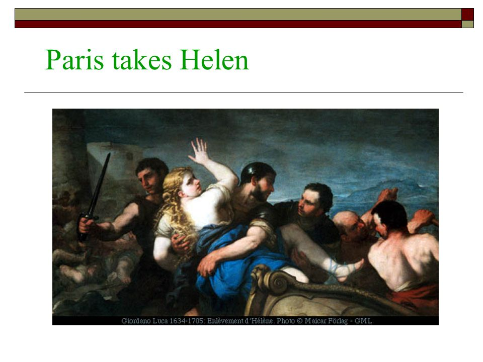 Paris takes Helen