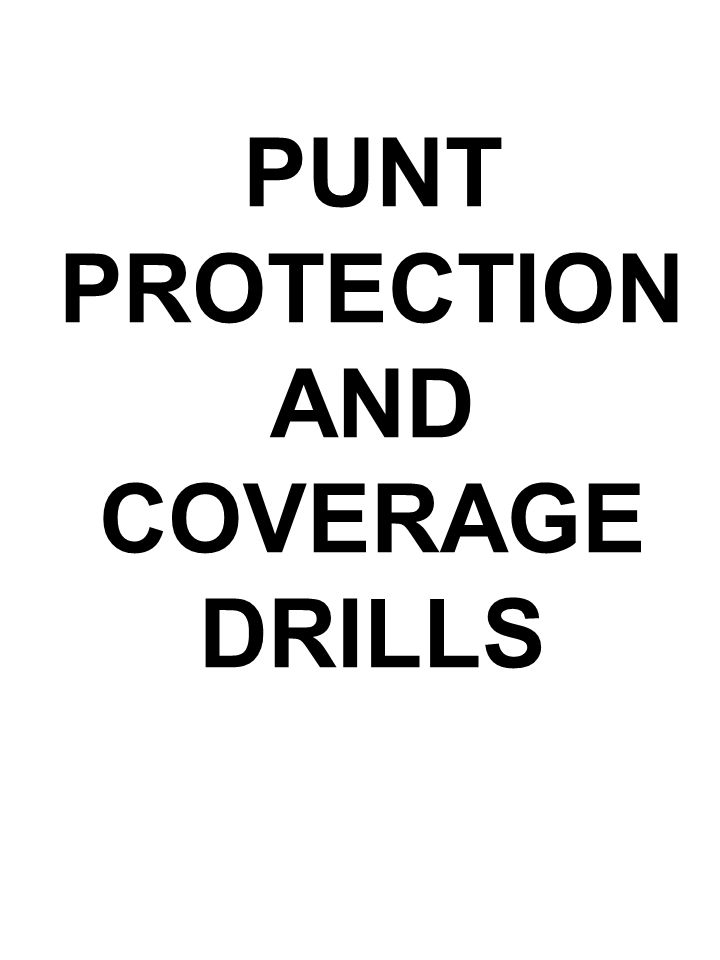 PUNT PROTECTION AND COVERAGE DRILLS