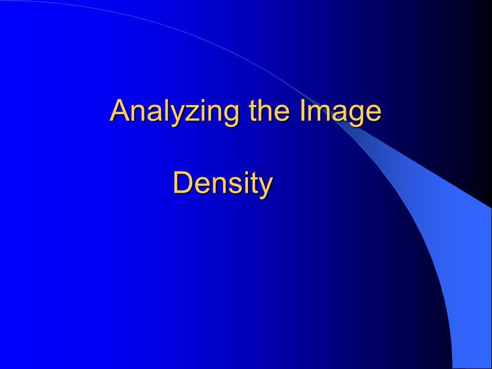 Analyzing the Image Density