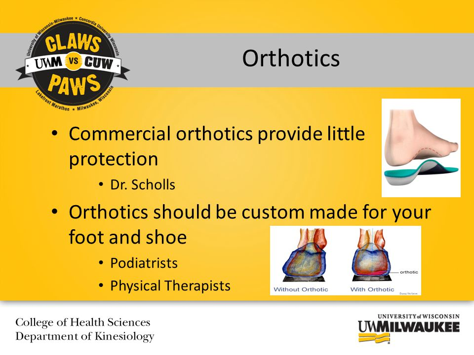 Commercial orthotics provide little protection Dr.